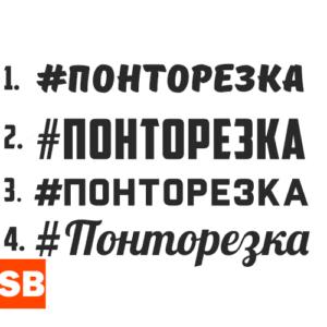 Наклейка с хештегом #Понторезка