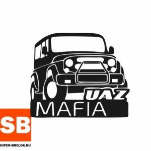 Наклейка на внедорожник Уаз мафия