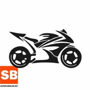 Наклейка для мотоциклиста Силуэт байка
