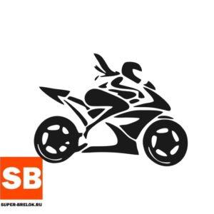 Наклейка девушка на мотоцикле