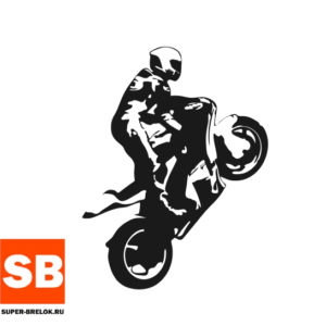 "Наклейка для мотоциклиста ""Стант"""
