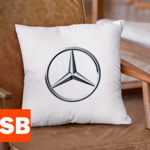 Подушка с логотипом Mercedes-Benz (Мерседес)