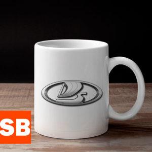 Кружка с логотипом Lada