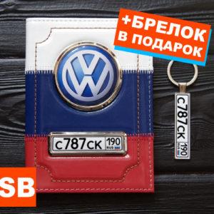 Обложка с номером и логотипом авто триколор