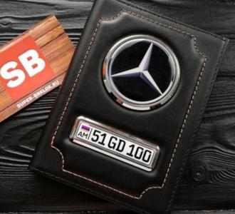 Обложка с номером авто и логотипом