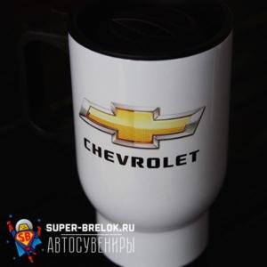 Кружка термос с логотипом Шевроле
